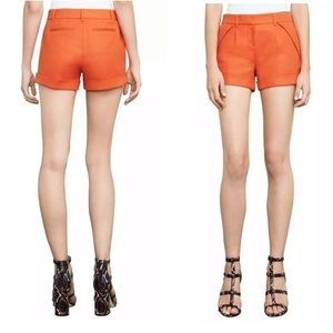 BCBG Maxazria Benita Cuffed Dress Shorts Orange XS